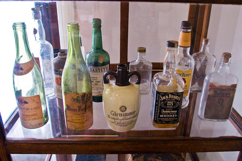 Faulkner's liquor cabinet!