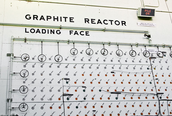 The loading face of the Graphite Reactor at Oak Ridge National Laboratory