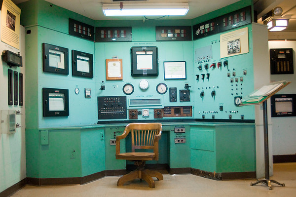 The control room for the Graphite Reactor at Oak Ridge