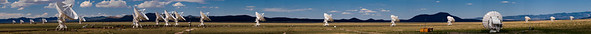Click through to view an enormous panorama of the VLA. Even though the Array was not at its most outspread position, this enormous image still does not capture the whole thing.