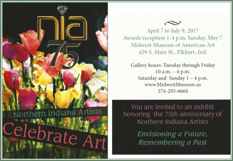 NIA 75th anniversary exhibit postcard