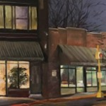 """NNN on Portage"", oil by NIA member Kimberly DeNolf"