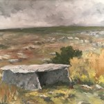 "James F. Cooke, ""Neolithic Dolnman on the Curren, County Clare, Ireland"", oil"