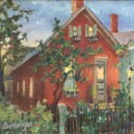 "Diane Overmyer, ""Twilight in German Village,"" oil"