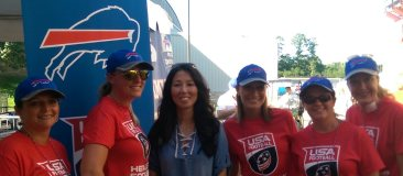 Kerry Atlas, Christen Haseley, Kim Pegula Owner of the Buffalo Bills, Madonna Walker, Michelle Leuer, Jennifer Whiteman