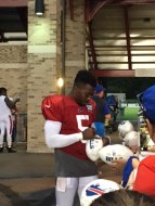 Tyrod Taylor, Buffalo Bills Quarterback signing autographs