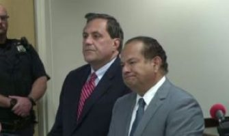 Steve Pigeon with Defense Attorney Paul Cambria