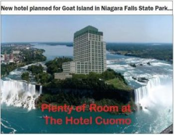 Last week's cover image for the Niagara Falls Reporter went viral, widely dispersed over the internet.
