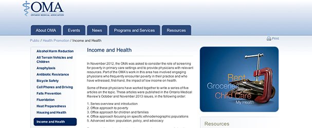 OMA Income and Health Series
