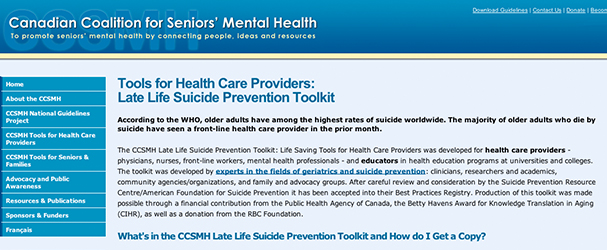 late life suicide prevention toolkit