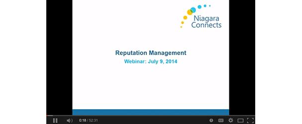 reputation management webinar july 2014