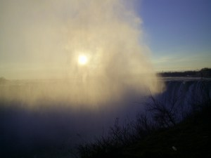Sun Through the Mist at Niagara Falls by Andrew Porteus