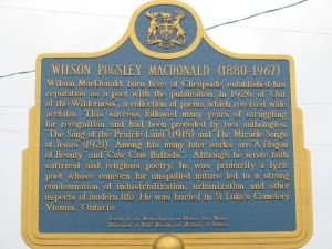 Plaque honouring Wilson Pugsley MacDonald