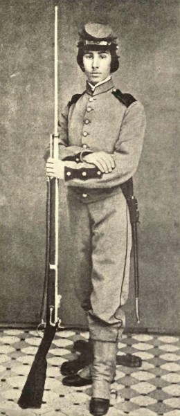 Richard Watson Gilder as an American Civil War soldier. By Sarah Wyman Whitman
