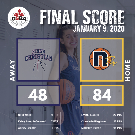 FinalScore-Kings Christian - Jan9