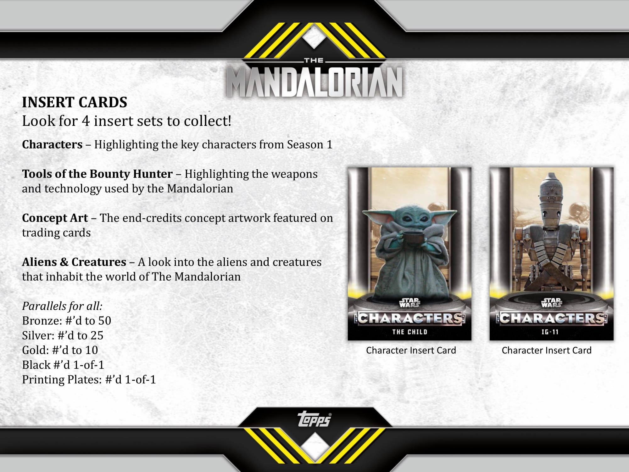 hobby box tin 2020 Topps Star Wars Mandalorian Season 1 Complete SET /& INSERTs