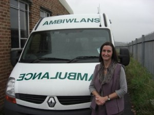 Nia with Ambulance