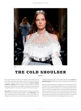 WeAr 47, Womenswear Trend, 'The Cold Shoulder'