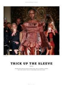 "WeAr 2.17, Issue 50, Womenswear Trend, ""Trick Up The Sleeve"""