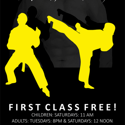 omagh karate class poster