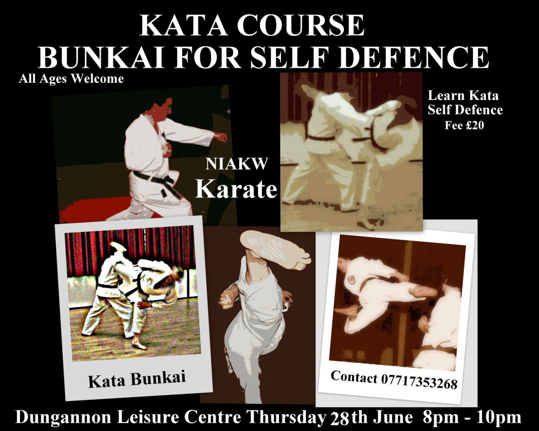 Kata Course Bunkai for Self-Defence Thursday 28th June 2018