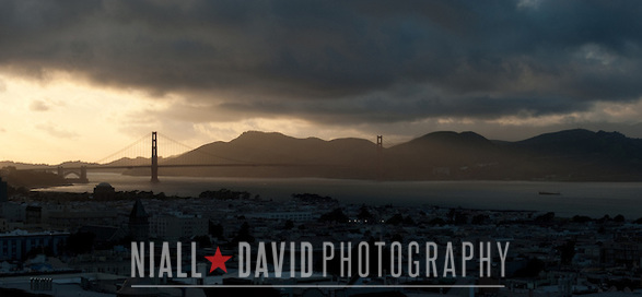 San Francisco Bay Golden Gate Bridge View Nob Hill Sunset Fog Clouds Niall-David-Photography-0848