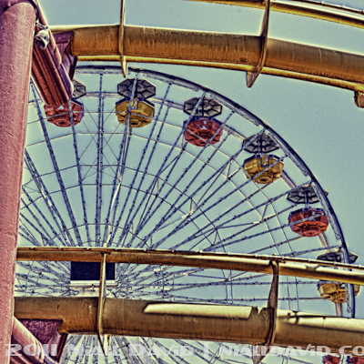 Niall David Photography - Santa Monica Pier Amusement Park HDR