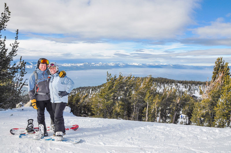 Niall and Whitney at Heavenly Tahoe