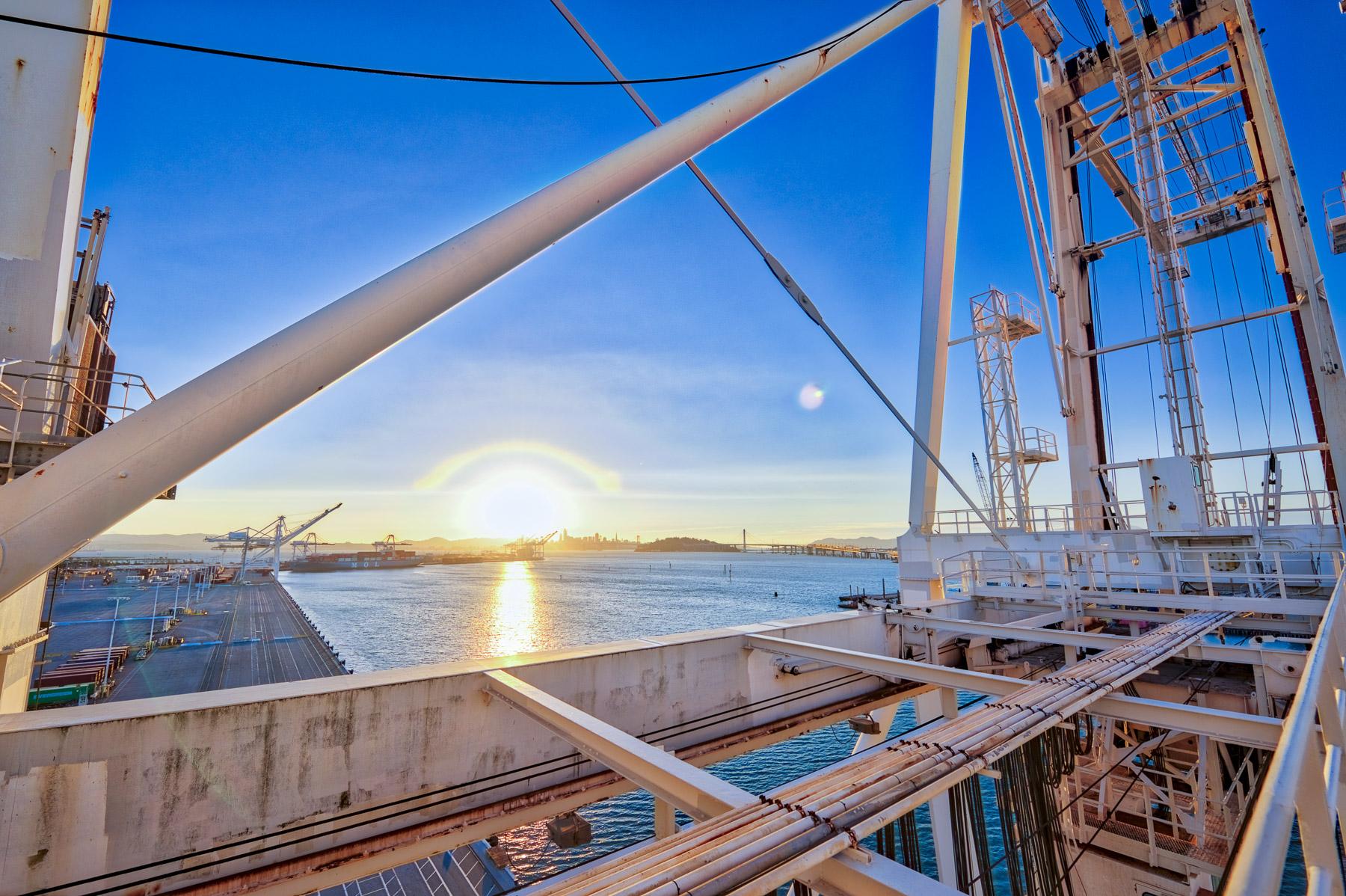 San Francisco Bay Area Industrial Shipping Port Crane Sunset City - Niall David Photography-2454