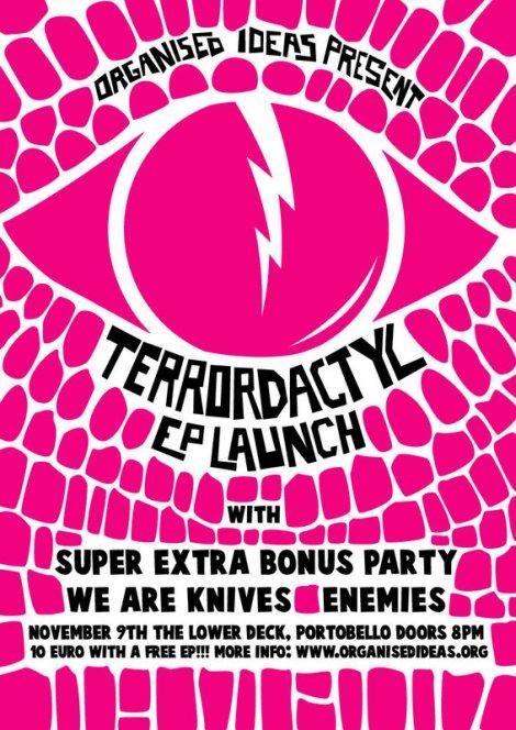 , Terrordactyl EP launch tonight