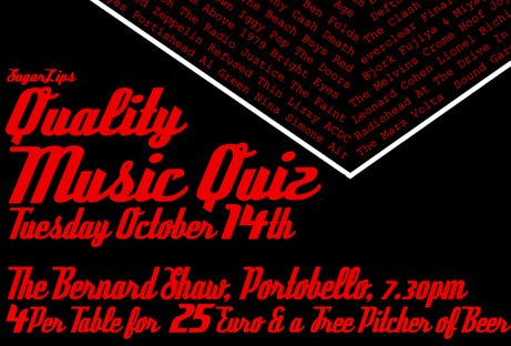 , Music nerds unite! Table Quiz?