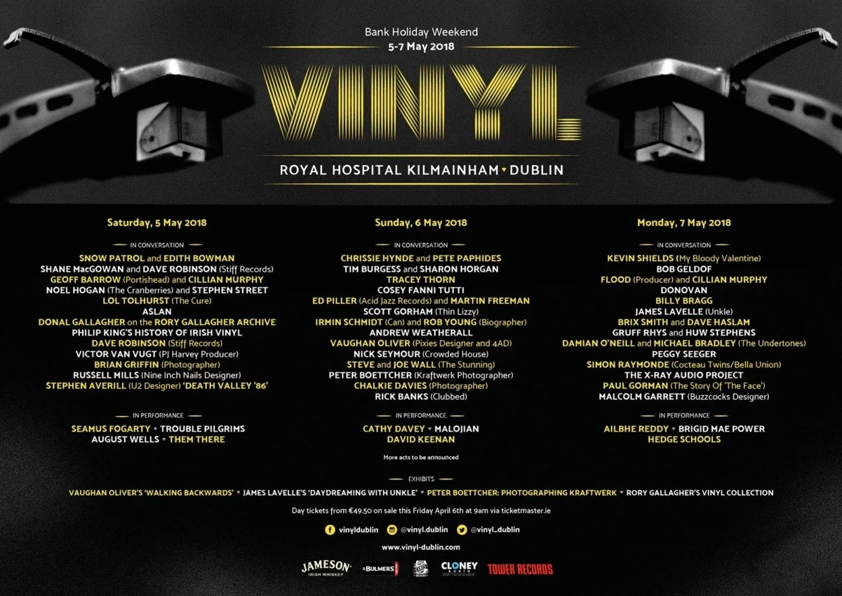 Vinyl Festival in IMMA Dublin announces day-by-day breakdown & 2 for 1 tickets for RSD