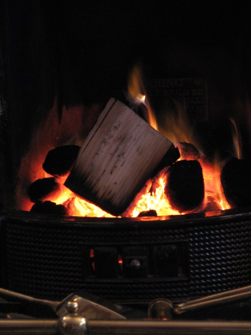 """""""The spirit of warmth is a blazing log fire"""" - Moorefield, County Dublin, Ireland"""