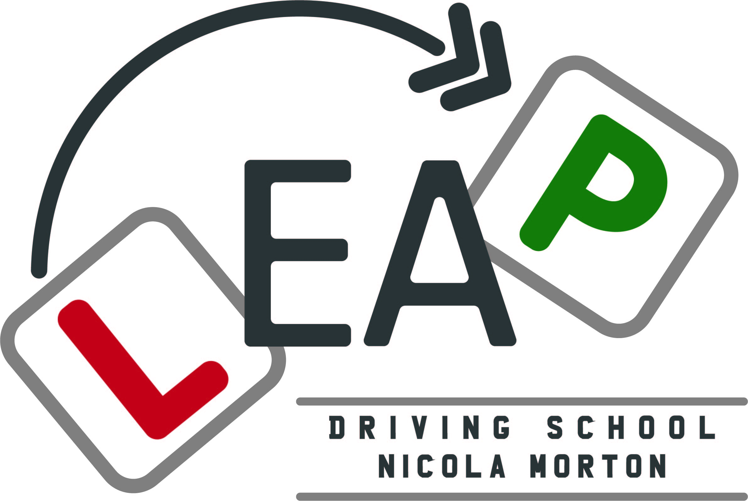 Leap Driving School Logo Design