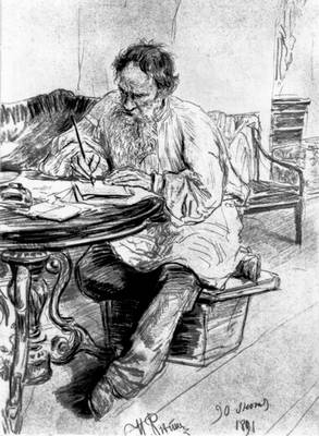 Tolstoy Writing Painting