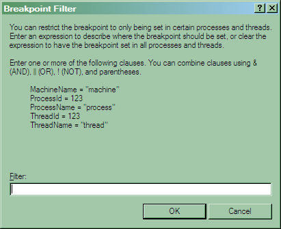 Breakpoint filter
