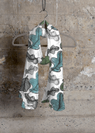 ©Ni Carnahan 2016.All Rights Reserved. Ni Carnahan VIDA fashion collection design -Oak Leaf Bliss scarf 2016 (Photo by VIDA at shopvida.com)