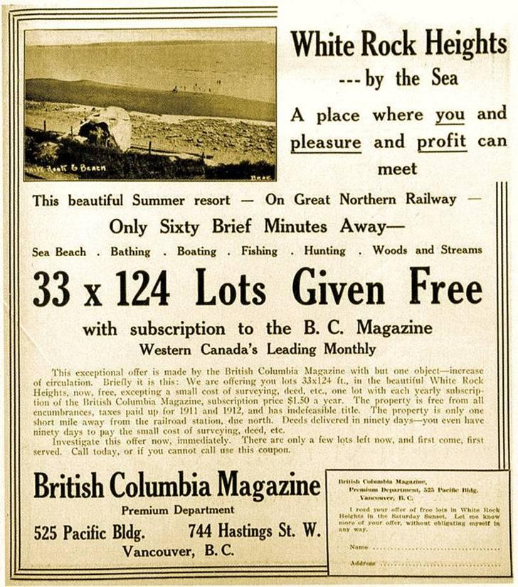 white rock 1912