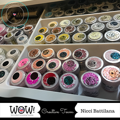 Organizing your Embossing Powders