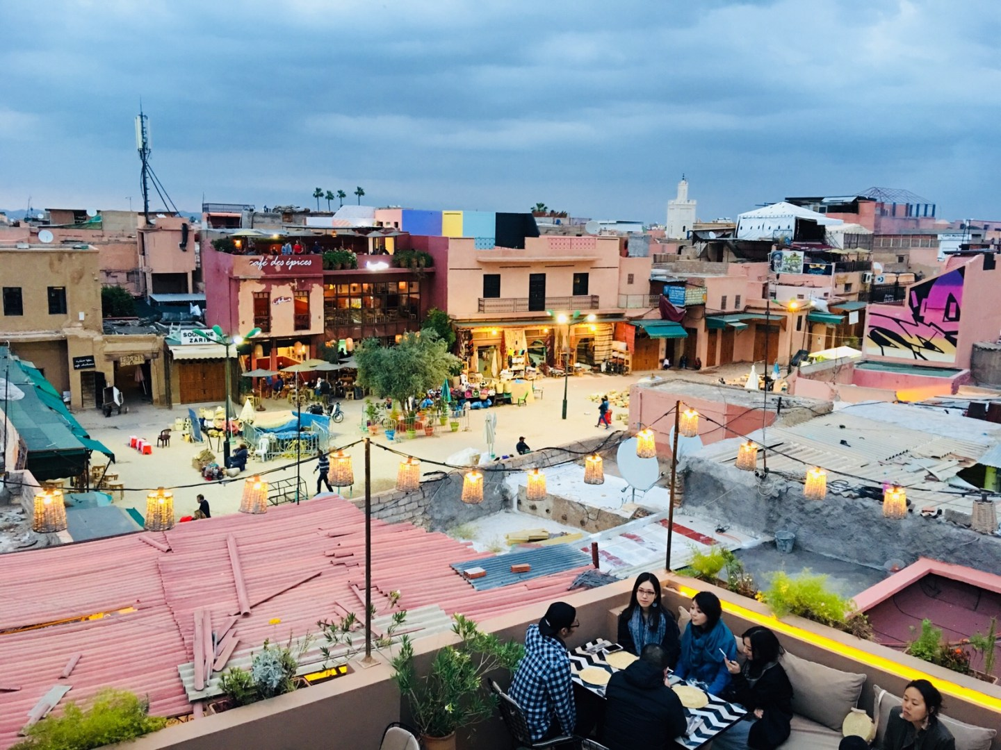 Rooftop Dining At Nomad, Marrakech