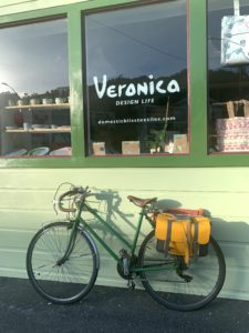 Bicycle in front of shop window