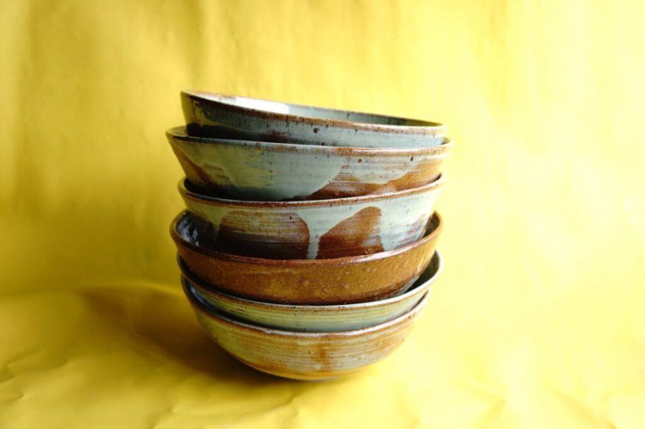 stack of gren bowls