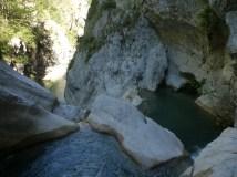 canyon castellane beaucoup de sauts et toboggans
