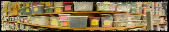 ... and MORE BINS of supplies...