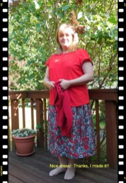 May 25 - my new top and my refashioned RTW skirt