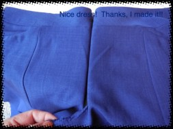 One side sewed and one pinned. Looks good so far.