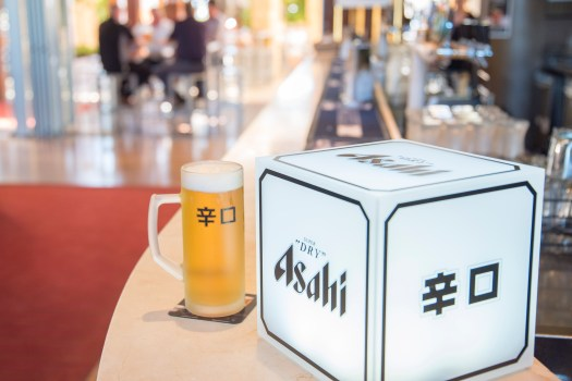 Beer Asahi product photography