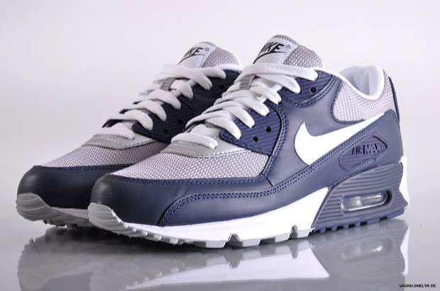 best authentic 66f32 57c17 ... Nike Air Max 90 Navy Blue Grey-White