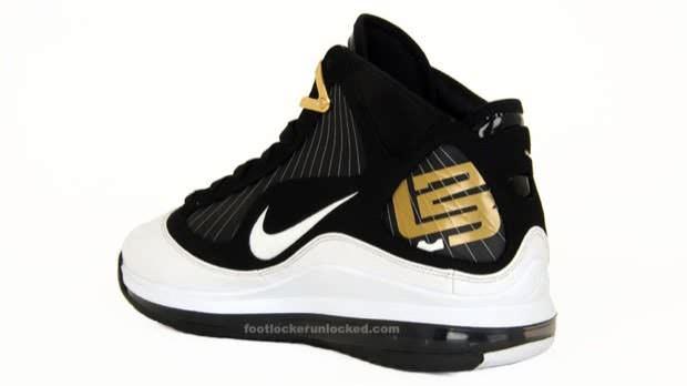 ac193045e0eaf3 ... Nike Air Max LeBron VII White Black-Metallic Gold