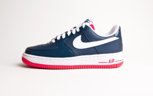 separation shoes 4f359 a7beb Nike Air Force 1 Navy Blue White-Red ...